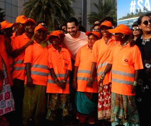 Varun Dhawan at #SaveTheBeach clean-up drive