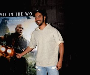 "Special screening of film ""Jumanji: Welcome to the Jungle"" - Varun Dhawan"