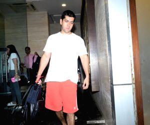 Actor Varun Dhawan's brother Rohit Dhawan seen at the actor's office at Juhu, Mumbai on June 14, 2019.