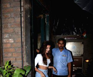 Actor Varun Dhawan's girlfriend Natasha Dalal seen at his office in Juhu, Mumbai on June 14, 2019.