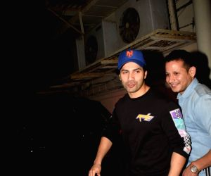 Varun Dhawan seen at a cinema theatre