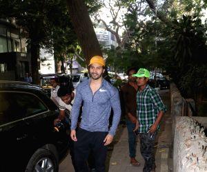 Actor Varun Dhawan seen at a gym in Mumbai on April 18, 2018.