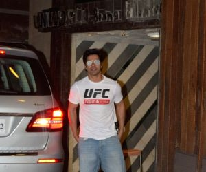 Varun Dhawan seen at a gym