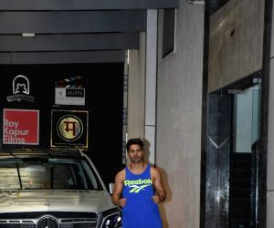 Varun Dhawan seen outside a gym at Bandra