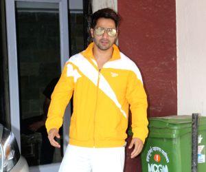 Actor Varun Dhawan seen outside a gym at Bandra, in Mumbai, on June 13, 2019.