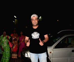 James Bond Singh, Varun Sharma seen at a cinema theatre