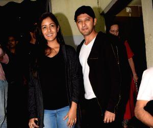Vatsal Sheth and Ishita Dutta seen at cinema theater