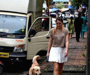Dina Umarova seen at Mumbai's Juhu