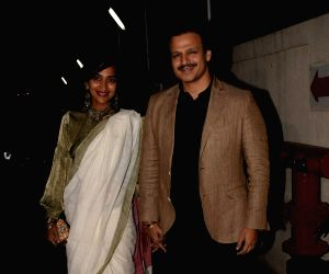"Special screening of film ""Padmaavat"" - Vivek Oberoi and Priyanka Alva Oberoi"