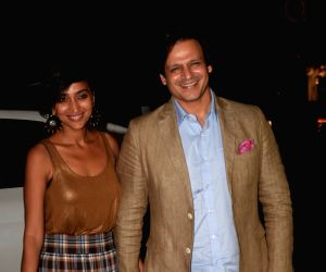 Vivek Oberoi and Priyanka Alva Oberoi during a programme