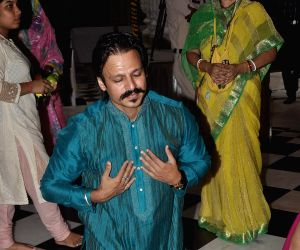Vivek Oberoi at ISKCON temple