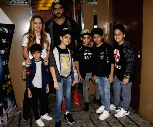 Zayed Khan and Malaika Parekh seen at a cinema theatre