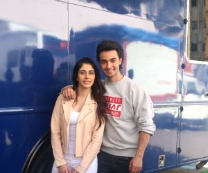 "Promotion of film ""Loveratri"" - Aayush Sharma and Warina Hussain"