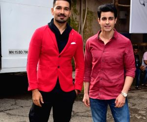 Abhinav Shukla and Gautam Rode on the sets of 'Comedy Dangal