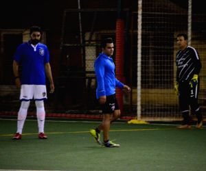 Abhishek Bachchan and Sachiin Joshi seen at All Stars Football Club