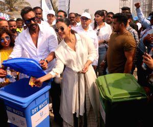"Plastic Banega Fantastic campaign"" - Kajol and Ajay Devgn"