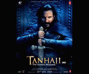 Free Photo: Ajay, Kajol share Saif Ali Khan's warrior look in 'Tanhaji...