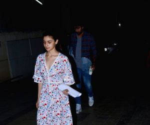 Alia Bhatt and Ranbir Kapoor seen at Mumbai's Bandra