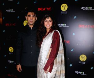 "Special screening of web series ""Breathe"" - Amit Sadh and Sapna Pabbi"