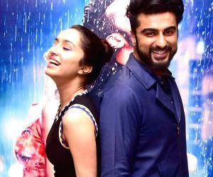 "Arjun Kapoor and Shraddha Kapoor at promotion of film ""Half Girlfriend"