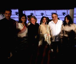 Actors  Arjun Rampal and Aditi Rao Hydari walks on the ramp for fashion designers Abu Jani and Sandeep Khosla' show Khadi Goes Global - celebrate 100 years of Khadi, in New Delhi on Feb. ...