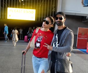 Ashmit Patel and Mahek Chahal spotted at Airport
