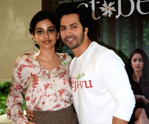 "Promotion of film ""October"" - Banita Sandhu and  Varun Dhawan"