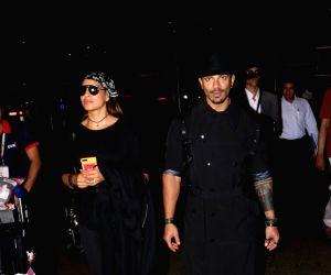 Bipasha Basu spotted at Mumbai Airport