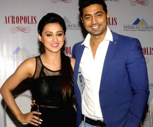 Deb and Mimi Chakraborty during a programme