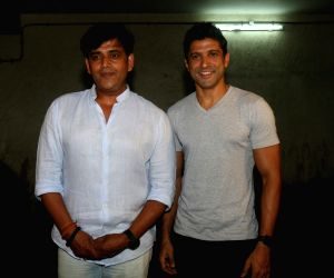 "Special screening of film ""Lucknow Central"" - Farhan Akhtar and Ravi Kishan"