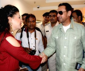 Gulshan Grover and Sambhavna Seth during a press conference