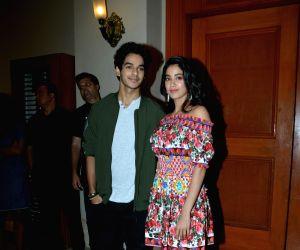 "Success meet of film ""Dhadak"" - Ishaan Khatter and Janhvi Kapoor"