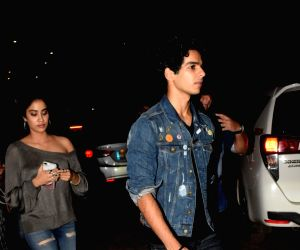 "Special screening of film ""Dhadak"" - Janhvi Kapoor and Ishaan Khatter"