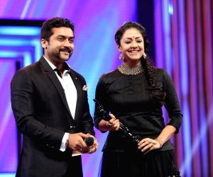 Suriya unveils title poster of wife Jyothika's next thriller film 'Pon Magal Vandhal'