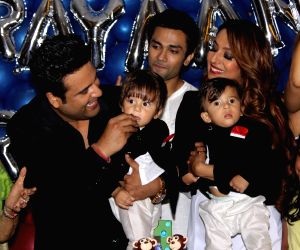Krushna Abhishek and Kashmera Shah host birthday party for their twins
