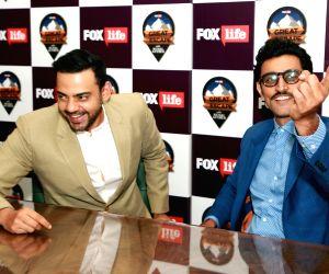 Kunal Kapoor, Cyrus Sahukar during a programme