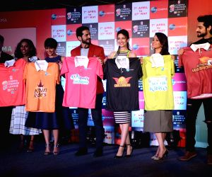 Launch of Zee Cinema Premier League - Mandira Bedi, Hiten Tejwani, Saumya Tandon, Anita Hassanandani and Karan Wahi