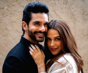 Neha Dhupia and husband A