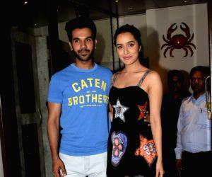 "Wrap up party of film ""Stree"" - Rajkummar Rao and Shraddha Kapoor"