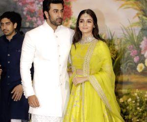 Sonam Kapoor and Anand Ahuja's wedding reception - Ranbir Kapoor and Alia Bhatt