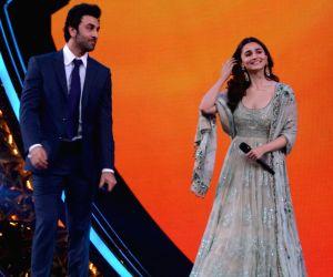 Actors Ranbir Kapoor and Alia Bhatt at Umang Awards 2019 in Mumbai on Jan. 27, 2019