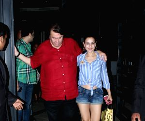 Ameesha Patel, Randhir Kapoor seen at a restaurant