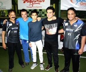 Sohail Khan and Arbaaz Khan during a cricket match