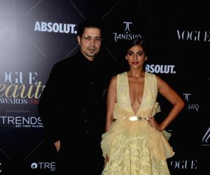 "Red carpet of ""Vogue Beauty Awards"" - Sumeet Vyas and Kubbra Sait"