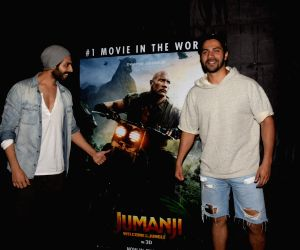 "Special screening of film ""Jumanji: Welcome to the Jungle"" - Varun Dhawan and Kartik Aaryan"