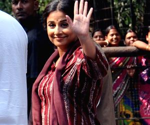 Vidya Balan shoots for her upcoming film 'Te3n' in Kolkata