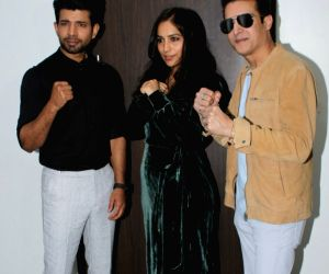 "Promotion of film ""Mukkabaaz"" -  Vineet Kumar Singh, Zoya Hussain and Jimmy Shergill"