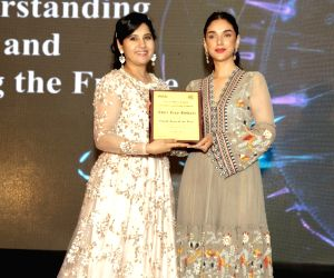 Aditi Rao Hydari addressed a gathering of delegates of Women Economic Forum - 2017