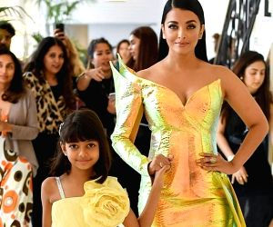 Aishwarya turns into golden mermaid at Cannes with her daughter Aaradhya