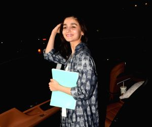 Alia Bhatt seen at a salon
